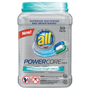 All Powercore Odor Remover Laundry Detergent - 50 Count