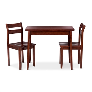 3 Piece Expandable Dining Set with Storage - Espresso - Threshold, Brown