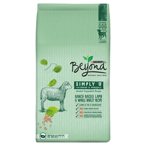 Purina Beyond Simply 9 Ranch Raised Lamb and Whole Barley Recipe Dry Dog Food 3.7 lb. Bag