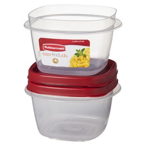 Rubbermaid Easy Find Lids Food Storage Container, 2 Cup, 2-pack, None