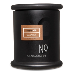 Tabac & Patchouli Suction Lid Jar Candle, Black