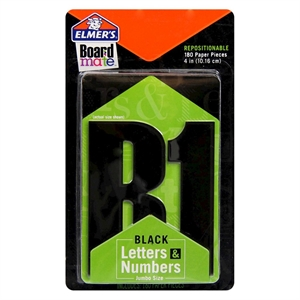 Repositionable Adhesive-backed Letters Black 7.47in 1.06in Elmer's