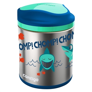 Contigo 10oz Stainless Steel Food Jar - Skulls Blue/Orange, Airforce Blue