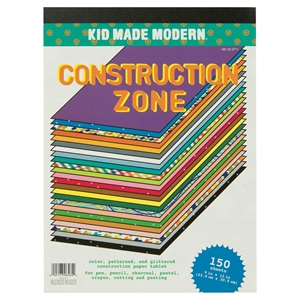 Kid Made Modern 150ct Construction Zone Paper Pad, Multi-Colored