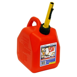 Spill-Proof Gasoline Can, 2-gal., Red