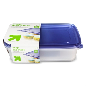 Snap and Store Food Storage Containers 2 ct (128 oz) - up & up, Multi-Colored