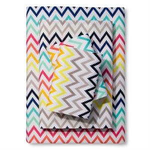Multicolor Printed Chevron Sheet Set (Full) - Xhilaration, Multi-Colored