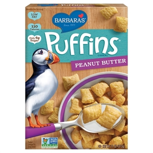 Barbara's Puffins Peanut Butter Cereal 12 oz