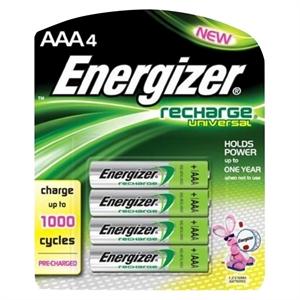 Energizer Recharge Universal Aaa Batteries 4 Count