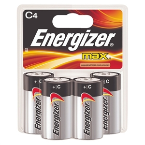 Energizer Max C Batteries 4 Count