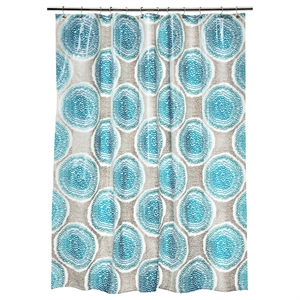 Doodle Medallion Shower Curtain - Blue - Room Essentials
