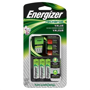 Energizer Recharge Universal AA4 Rechargeable Batteries (Chvcmwb-4)