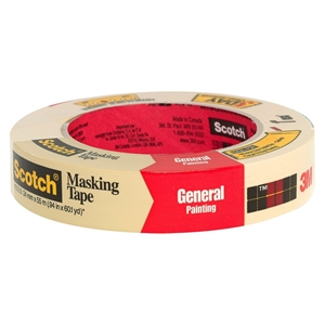 3M Scotch General Painting Masking Tape 1x60-yd.