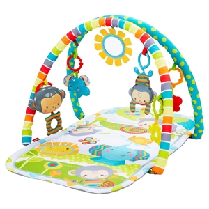 Fisher-Price SnugaMonkey Musical Play Gym, Multi-Colored