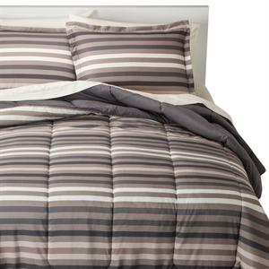 Multi Stripe Bed In A Bag (Twin) Neutral - Room Essentials
