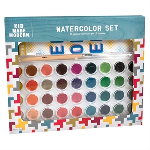 Kid Made Modern 36ct Water Color Kit, White/Yellow/Red/Blue