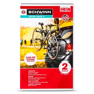 Schwinn 2 Bike Trunk Rack, Black