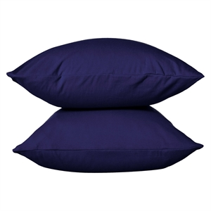 Jersey Pillowcase - Solid Navy (King) - Room Essentials