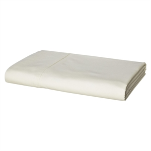 300 Thread Count Ultra Soft Flat Sheet Ivory (Queen) - Threshold