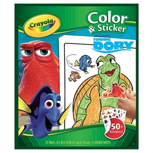 Crayola Color & Sticker - Finding Dory, White