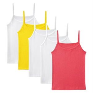 Girls' Fruit of the Loom 5-Pack Camis - Multicolored L