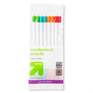 """#2 Mechanical Pencil, 0.7 mm, 8ct - up & up, Multi-Colored"""