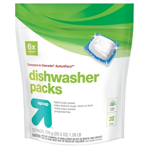 Automatic Dishwasher Detergent Pacs Fresh Scent 32 ct - up & up