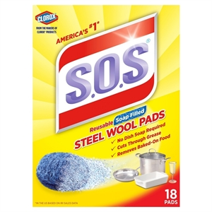 S.O.S Steel Wool Soap Pads 18 Ct