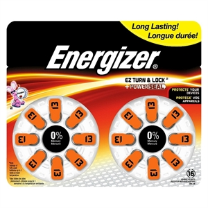 Energizer Hearing Aid Size 13 Batteries 16 Count