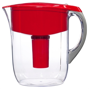 Brita Grand 10 Cup Water Pitcher - Red, Red & Clear
