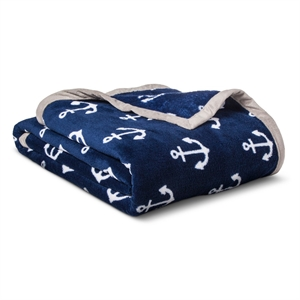 Anchors Plush Blanket - Pillowfort, Blue White