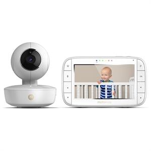 Motorola MBP36XL 5 Portable Video Baby Monitor, White/Brown