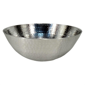 Hammered Stainless Steel Serve Bowl - Threshold, Clear