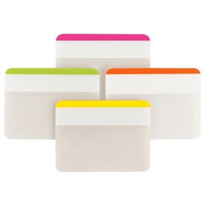 """Post-It Durable File Tabs, 2"""" x 1.5"""" - Striped Multicolor"""