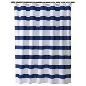 Rugby Stripe Shower Curtain - Cool - Room Essentials, Multi-Colored