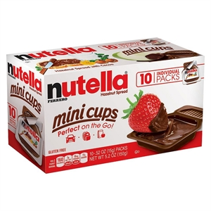 Nutella Mini Cups 10ct, Nut and Seed Butters