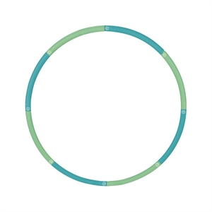Empower Cardio Core & More 3Lb Weighted Hoop - Blue/Green, Pink/Orange