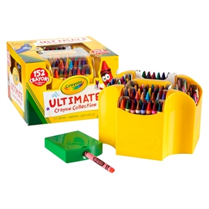 Crayola Ultimate Crayon Collection with Sharpener and Caddy, 152ct, Multi-Colored