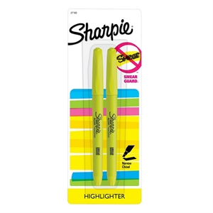 Sharpie Pocket Highlighters, Bold Tip, 2ct - Yellow