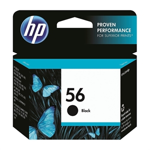 HP 56 Printer Ink Cartridge - Black (C6656AN#140)