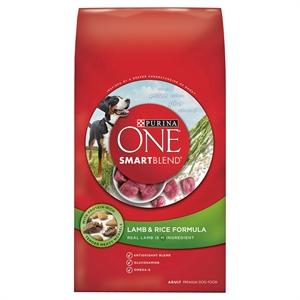Purina One SmartBlend Lamb & Rice Formula Adult Premium Dry Dog Food 16.5lb Bag