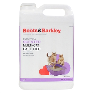 Scoopable Cat Litter for Multiple Cats - Boots & Barkley