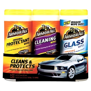 Armor All 3-pk. Wipes, Automotive Interior Cleaner