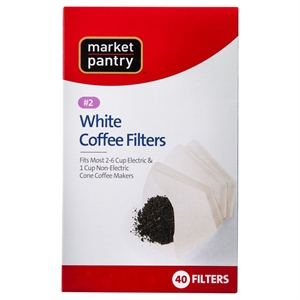 White Cone #2 Coffee Filters 40 Count - Market Pantry