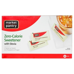 Zero-Calorie Sweetener with Stevia - 80 Count - Market Pantry