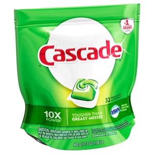 Cascade ActionPacs Dishwasher Detergent, Fresh Scent, 32 Count
