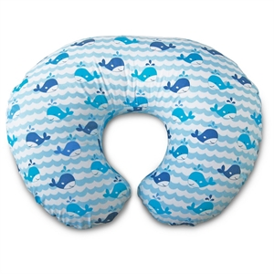Boppy Slipcovered Nursing Pillow - Whale Watch, Multi-Colored