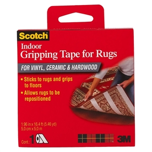3M Scotch Indoor Gripping Tape for Rugs 1.96x16.4', White