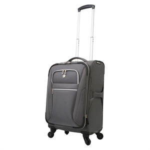SwissGear Checklite Ultra Liteweight 20 Carry On Luggage - Charcoal, Almost Black