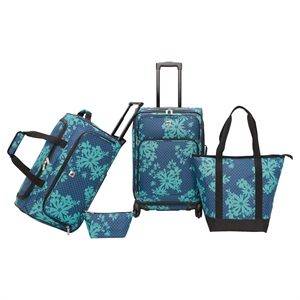 Skyline 4 Piece Luggage Set - Blue/Green